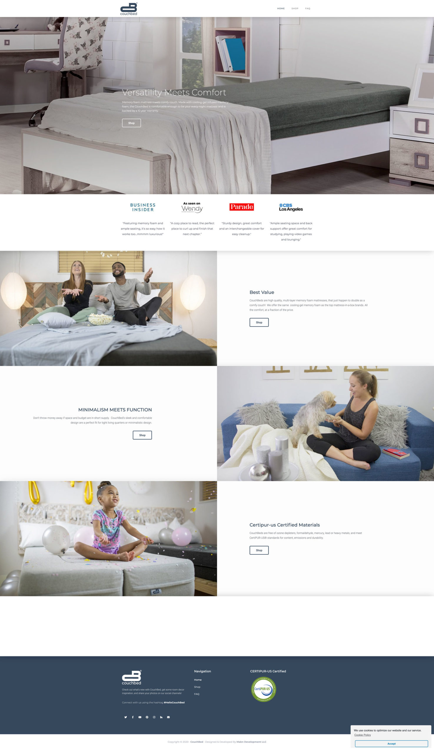 ShopCouchBed Website Example