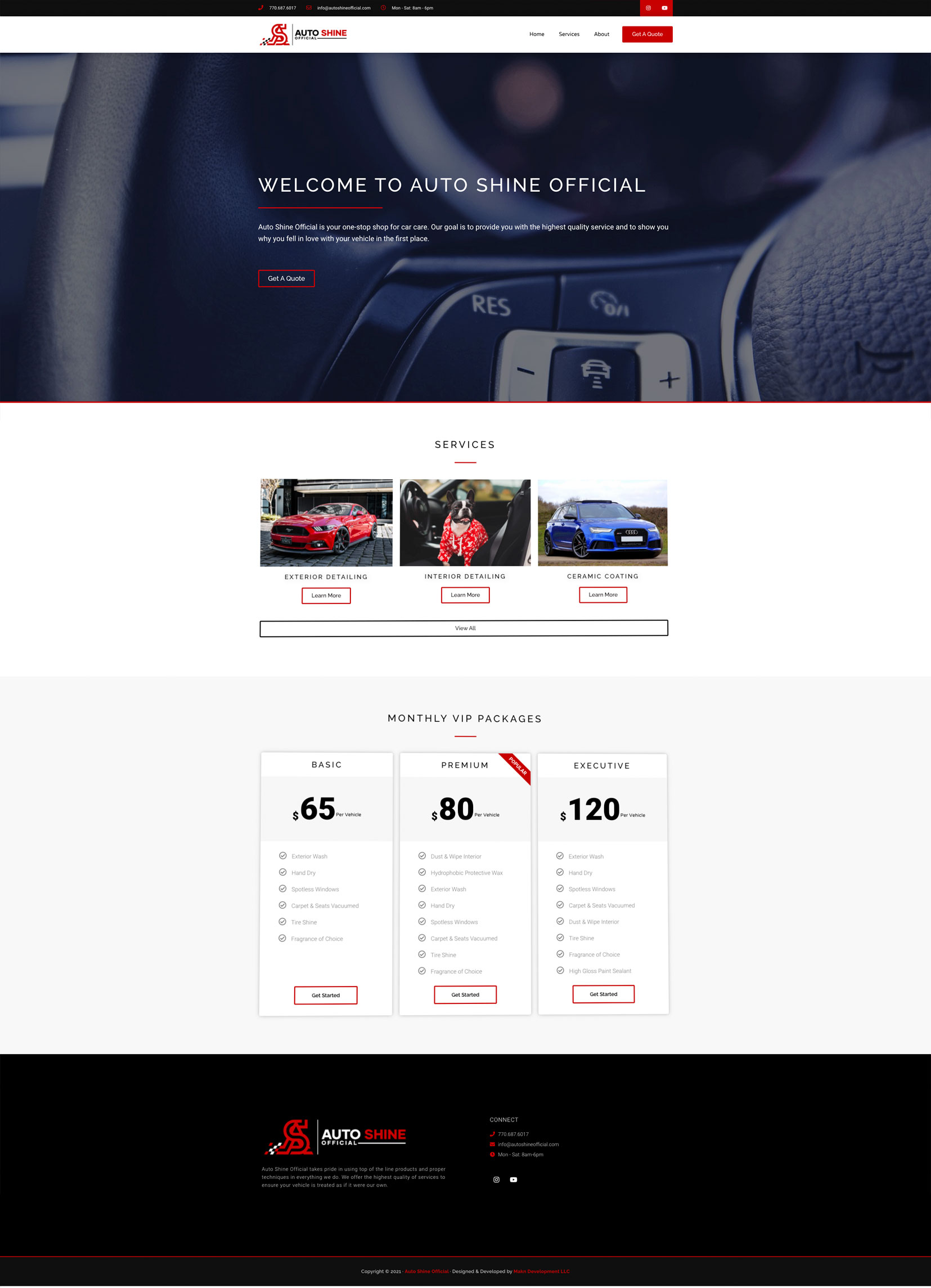 Auto Shine Official Website Example